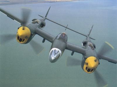 Aviones estadounidenses de la IIGM